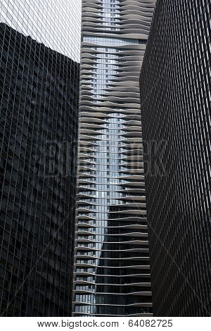 Modern Office Buildings. Bottom Up View