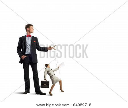 puppeteer and business woman