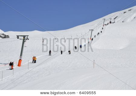 Ski Lift In Voralberg