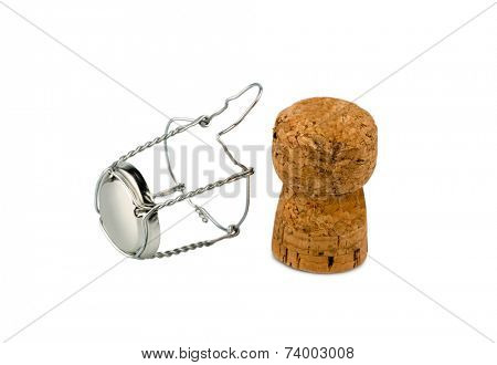 clasp and champagne corks, symbol photo for celebrations, enjoyment and alcohol use