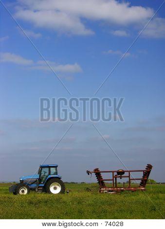 Blue Tractor Skies
