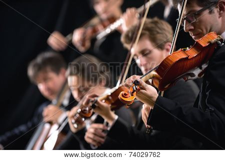 Orchestra First Violin Section