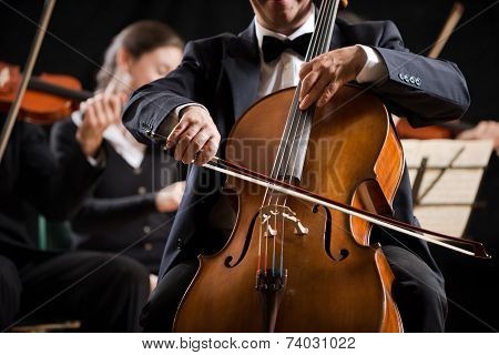 Symphony Orchestra Performance: Celloist Close-up