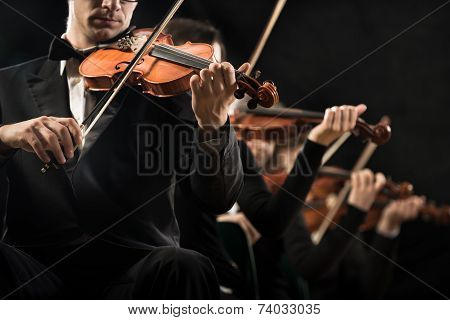 Violin Orchestra Performing