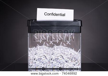 Shredded Destroying Confidential Document
