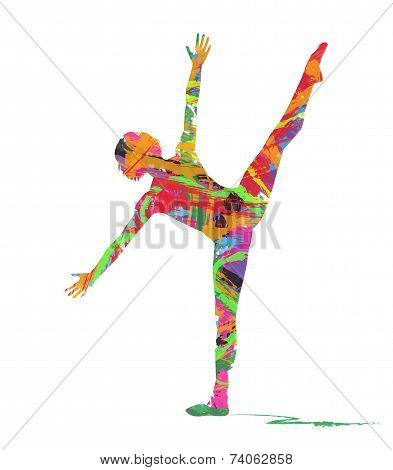 abstract silhouette of dancer