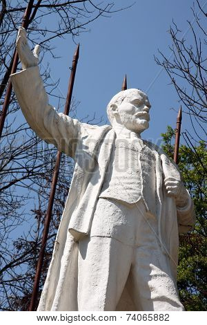 Statue of Lenin in a park