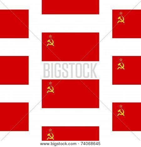 Flag Of The Soviet Union Seamless Pattern