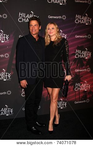 LOS ANGELES - OCT 17:  Rob Lowe, Sheryl Berkoff Lowe at the Hilarity for Charity Benefit for Alzheimer's Association at Hollywood Paladium on October 17, 2014 in Los Angeles, CA