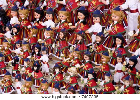 Dools With Costumes Typical Of Madeira