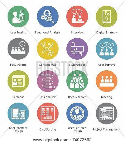 SEO & Usability Icons Set 1 - Cercle Series