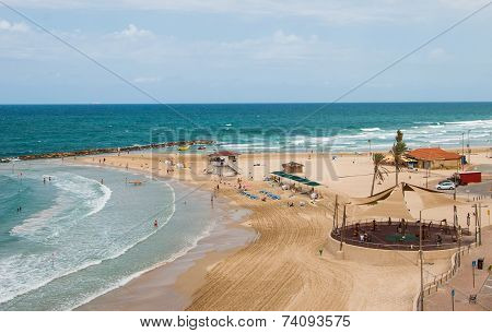 The beach on the Mediterranean Sea