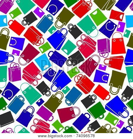 Shopping bags seamless background, icon set, elements easy to use separately as icons.