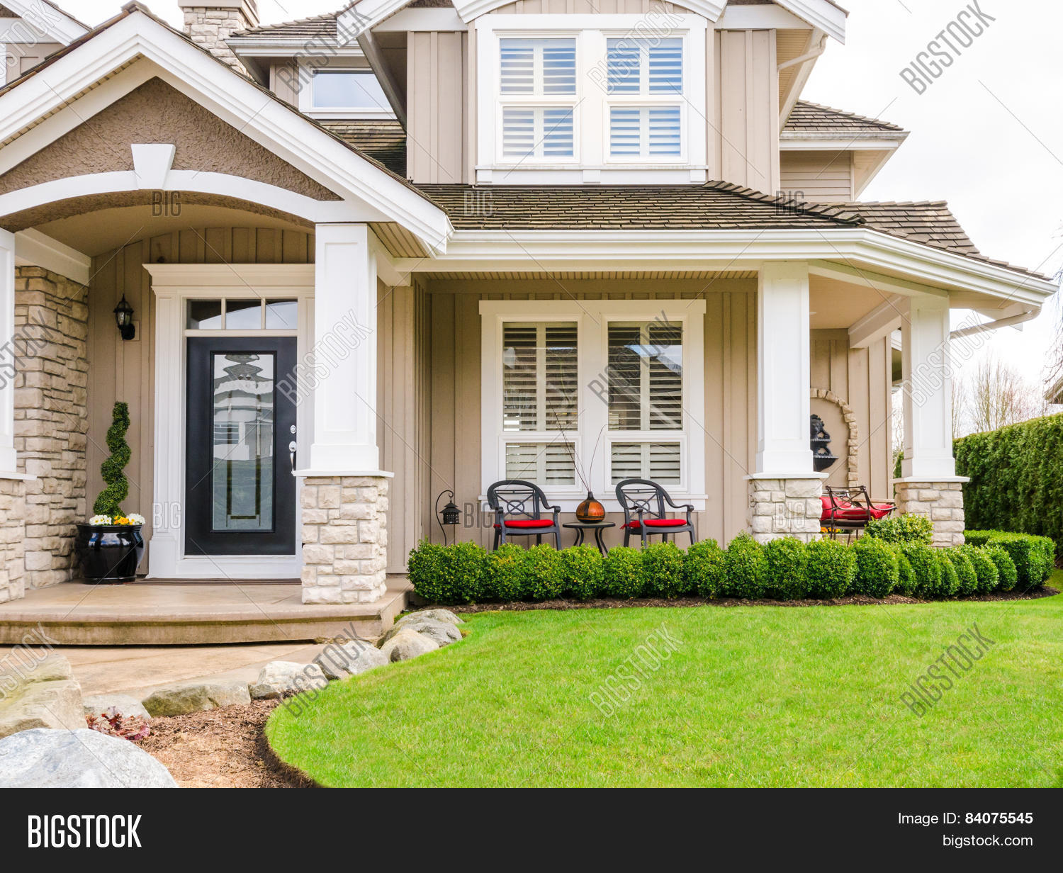 Entrance Luxury House Image Photo Free Trial Bigstock