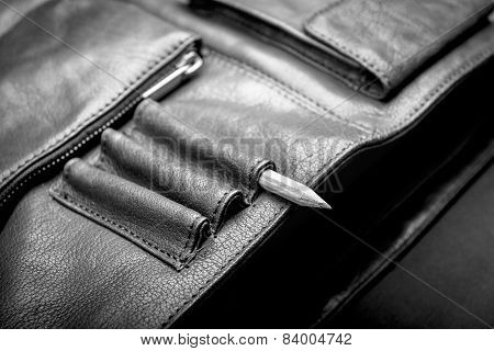 Business Briefcase Bag Black And White