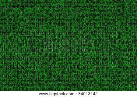 Binary Numbers - High Density, Green On Black