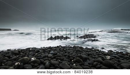 Dark ocean view