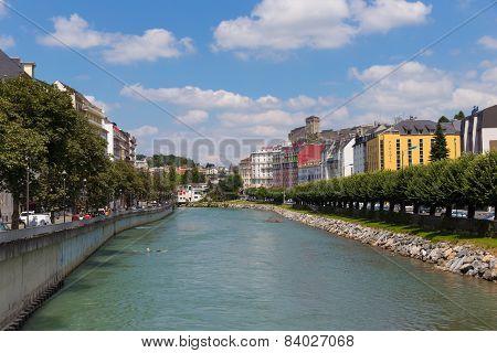 Gave De Pau River In Lourdes