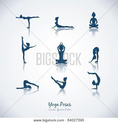 Vector yoga poses