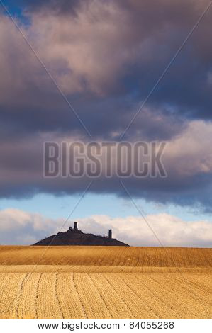 Hazmburk Castle And Spring Field