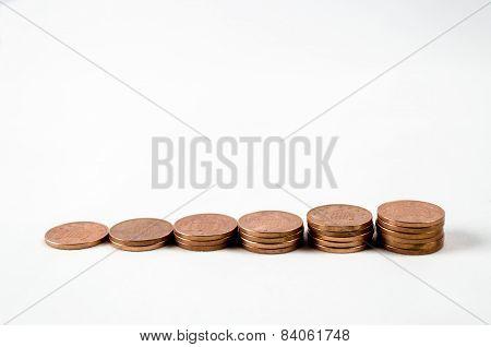 Line of pennies