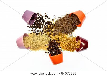 Seeds, Spices, Grain, Wake Up And Mixed With Each Other