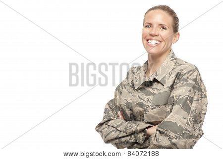 Smiling Female Airman