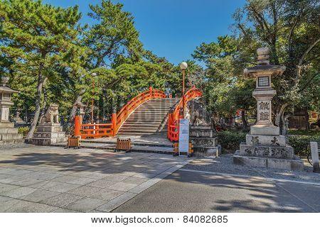 Taiko Bashi at Sumiyoshi Grand Shrine in Osaka Japan