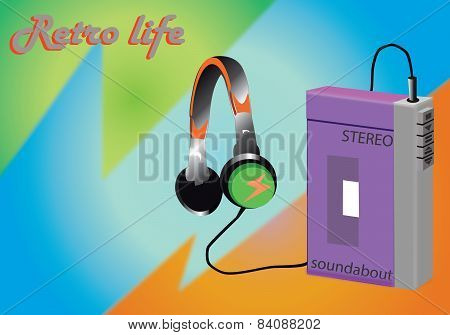 Vector retro soundabout walkman
