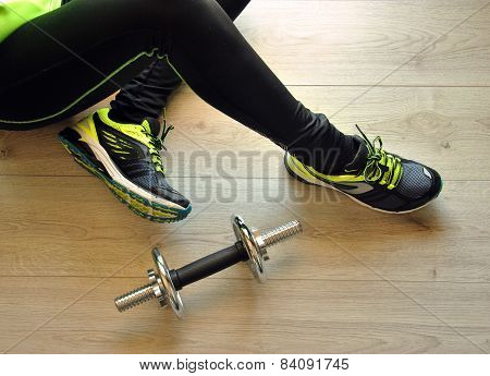 Runner Legs Stretched