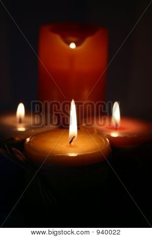 Four Candles Burning