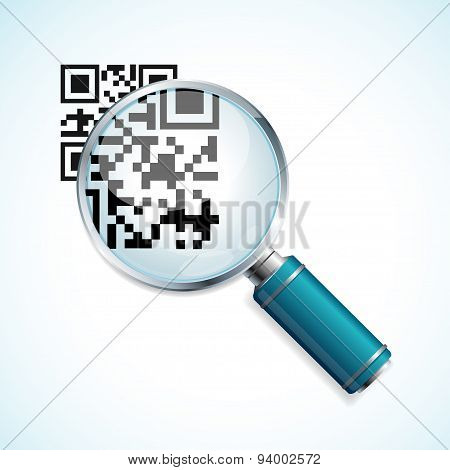 Vector magnifier and qr code