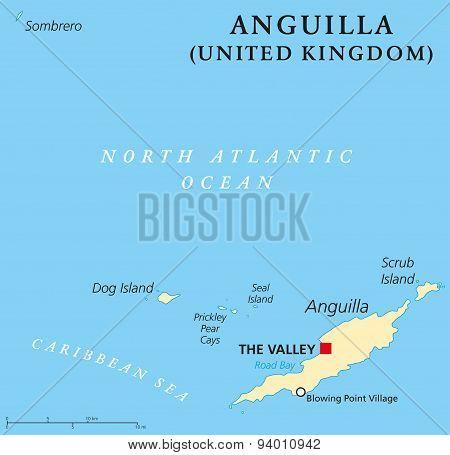 Anguilla Political Map