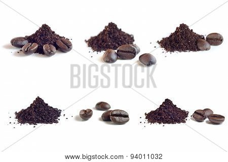 Collection Of Roast And Ground Coffee ,coffee Beans