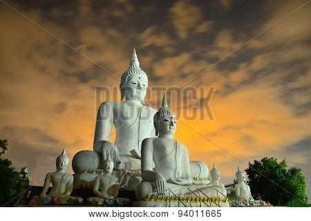 Beautiful Concrete Buddha Structure In Chiangmai Thailand
