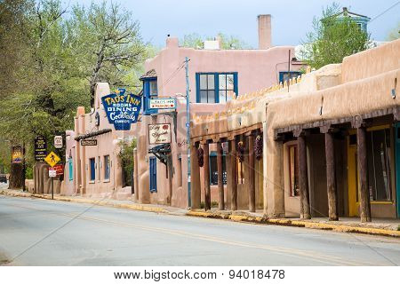 Buildings In Taos, Which Is The Last Stop Before Entering Taos Pueblo