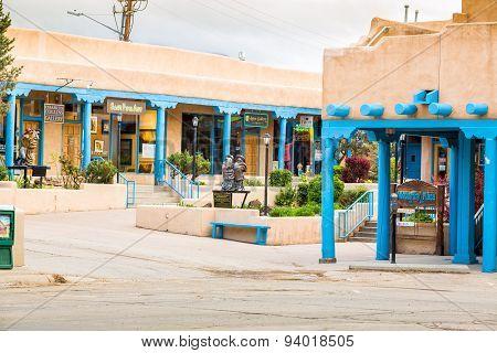 Buildings In Taos, Which Is The Last Stop Before Entering Taos Pueblo