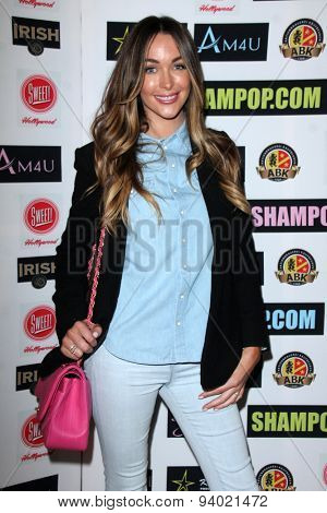 LOS ANGELES - JUN 4:  Courtney Sixx at the Celebrity Selfies Art Show by Sham Ibrahim at the Sweet! Hollywood on June 4, 2015 in Los Angeles, CA