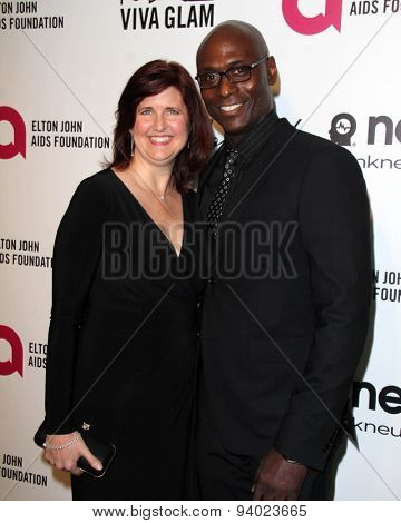 LOS ANGELES - MAR 3:  Lance Reddick at the Elton John AIDS Foundation's Oscar Viewing Party at the West Hollywood Park on March 3, 2014 in West Hollywood, CA