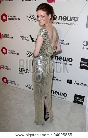 LOS ANGELES - MAR 3:  Lydia Hearst at the Elton John AIDS Foundation's Oscar Viewing Party at the West Hollywood Park on March 3, 2014 in West Hollywood, CA
