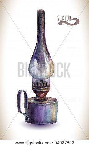 Vector kerosene lamp