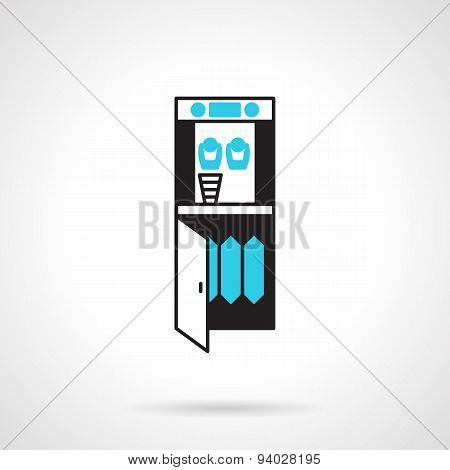 Purifier water cooler flat vector icon