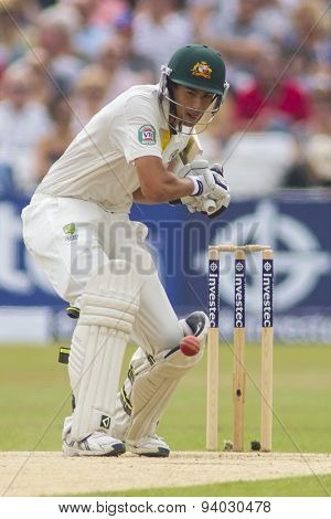 NOTTINGHAM, ENGLAND - July 14, 2013: Ashton Agar during day five of the first Investec Ashes Test match at Trent Bridge Cricket Ground on July 14, 2013 in Nottingham, England.