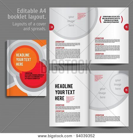 a4 booklet layout vector photo free trial bigstock