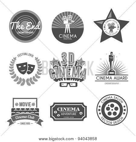 Cinema labels collection black