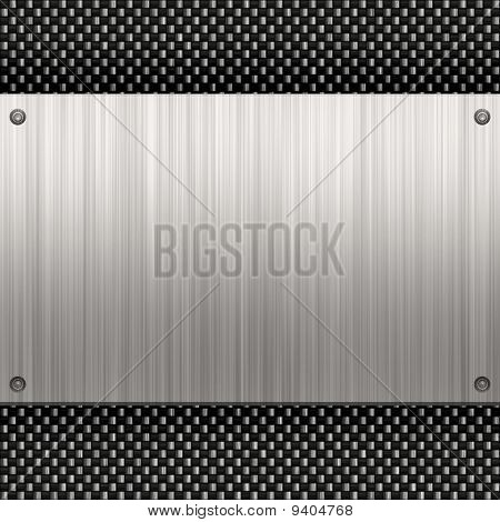 Brushed Aluminum Carbon Fiber