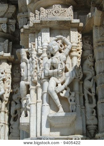 Apsaras, Dancing Girls And Jain Saints On Exterior Walls