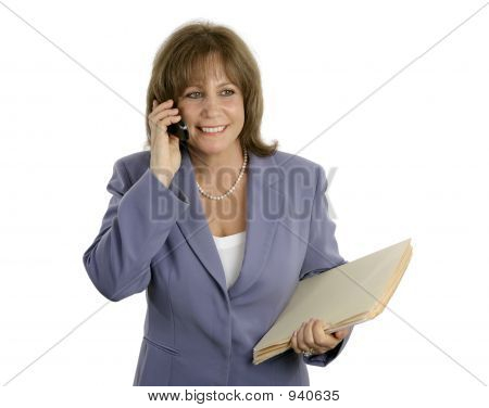 Relaxed Efficient Businesswoman