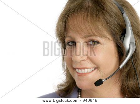 Customer Service Rep Closeup