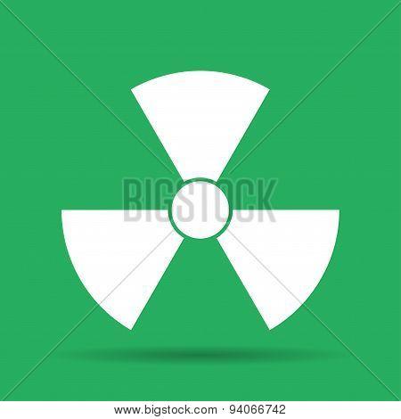 radiation symbol. Flat vector illustrator Eps 10 poster